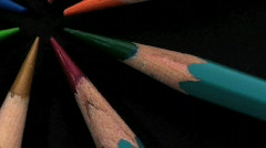 Pencils zoom-out - HD  Stock Footage