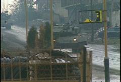 Kosovo, former Yugoslavia. Leopard tank on patrol, #28 Stock Footage