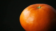 Tangerine close up Stock Footage