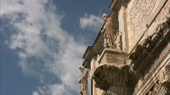 The Arch of Constantine in Rome - Italy Stock Footage