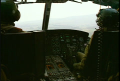 Kosovo, former Yugoslavia, helicopter flight, #2 Stock Footage