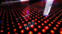 Led lights neon disco club party technology laser Stock Footage