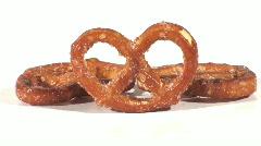 Three pretzels - HD LOOP Stock Footage