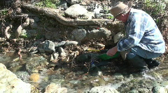 prospector, miner, gold panning - stock footage