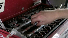 Wrench from toolbox - stock footage