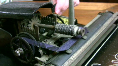 Antique typewriter print head Stock Footage