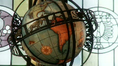 Ornate Globe Stock Footage