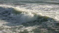 Stock Video Footage of Closeup shot of ocean wave as it travels towards shore