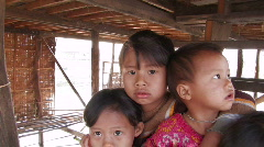 Children in Burma - stock footage