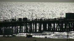 Ihmiset kävely rantatiellä Santa Monica Pier (High Definition) Arkistovideo