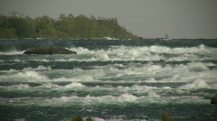 Turbulent river quickly flows in this water scenic (High Definition) Stock Footage