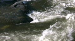 Kaweah River flows downstream through the rocks, creating whitewater rapids Stock Footage
