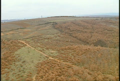 Kosovo, immediate post war, helicopter flight. wreckage of Serbian fighter jet Stock Footage