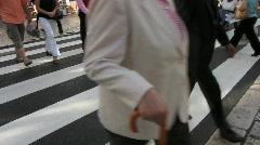 Pedestrian crossing zebra Stock Footage