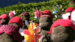 Jizo statues closeup Stock Footage