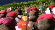 Stock Video Footage of Jizo statues closeup