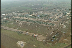 Kosovo, former Yugoslavia immediate post war, helicopter flight, #7 Stock Footage