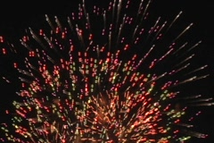 Colorful Fast Fireworks  Stock Footage