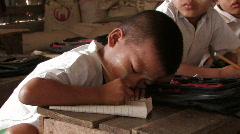 Boy in School Stock Footage