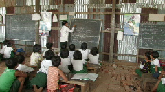 Irrawaddy Delta School Stock Footage