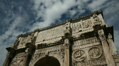 The Arch of Constantine, Rome Stock Footage