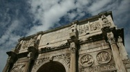 Stock Video Footage of The Arch of Constantine, Rome