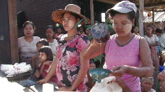 Myanmar: Food Distribution Stock Footage