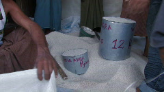 Myanmar: Irrawaddy Delta_ Food Distribution - stock footage