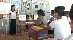 Burma: Training trainers Stock Footage