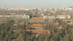 Beijing Dianmen from Coal Hill Stock Footage