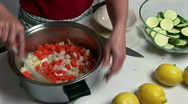 Stock Video Footage of mixing soup stock 2