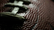 Stock Video Footage of Football Macro