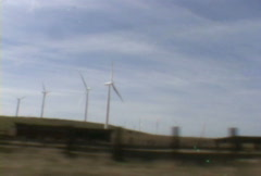 New Wind Turbines for Cleaner Energy Stock Footage