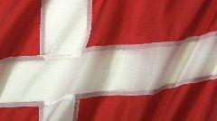 Denmark Flag Stock Footage