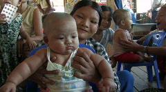 Myanmar: Irrawaddy Delta Health Clinic Stock Footage