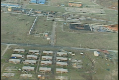 Kosovo, former Yugoslavia immediate post war, helicopter flight, #15 - stock footage