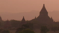 Burma: Bagan at sunset - stock footage