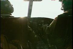 Kosovo, former Yugoslavia immediate post war, helicopter flight, #13 Stock Footage