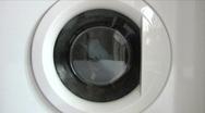 Emptying Washing Machine Stock Footage