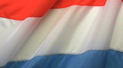 Luxembourg Flag Stock Footage