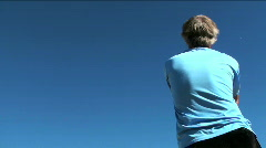 Man flies stunt kite - HD  Stock Footage