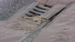 Sewer near a construction site Stock Footage