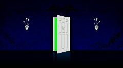 Door - blue Stock Footage