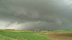 Supercell thunderstorm with shelf cloud Stock Footage