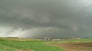 Stock Video Footage of Supercell thunderstorm with shelf cloud