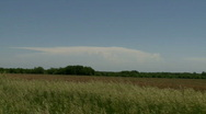 Stock Video Footage of Distant Severe Thunderstorm (Supercell)
