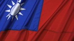Taiwan Flag Stock Footage
