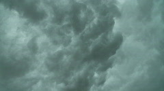 Turbulent, ominous rolling storm clouds Stock Footage