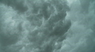 Stock Video Footage of Turbulent, ominous rolling storm clouds