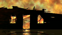 Stock Video Footage of Burning Down the House 1